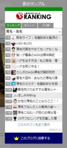 ランキングが表示されるブログパーツ(人気ブログランキング)